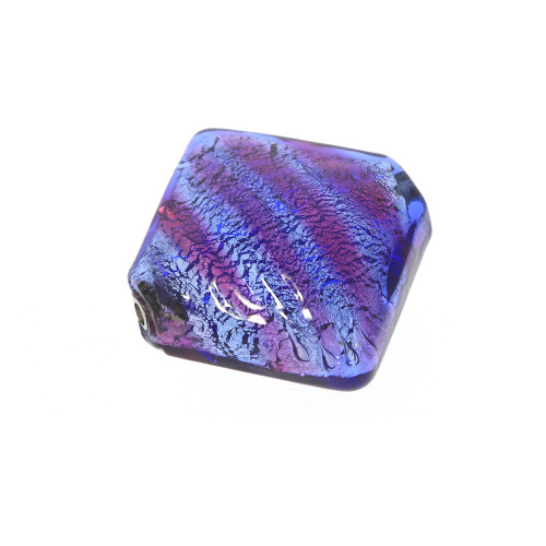 Large Diamond Shaped Purple and Pink Murano Glass Vario Key Bead