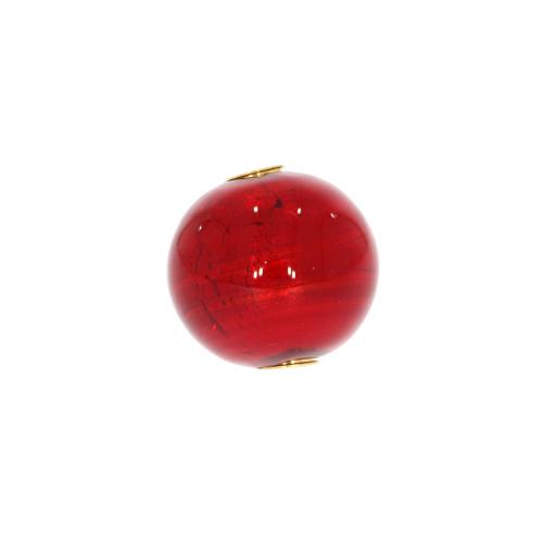 Mini Red Round Murano Glass Vario Key Clasp