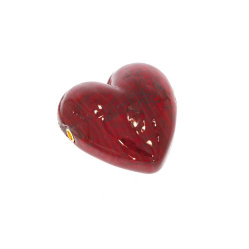 Medium Red Heart Murano Glass Vario Key Clasp