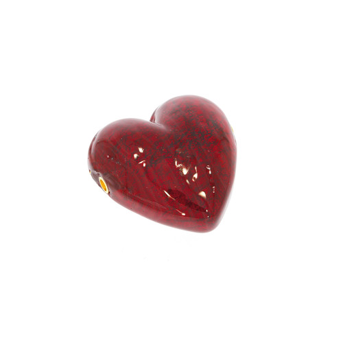 Small Red Heart Murano Glass Vario Key Bead