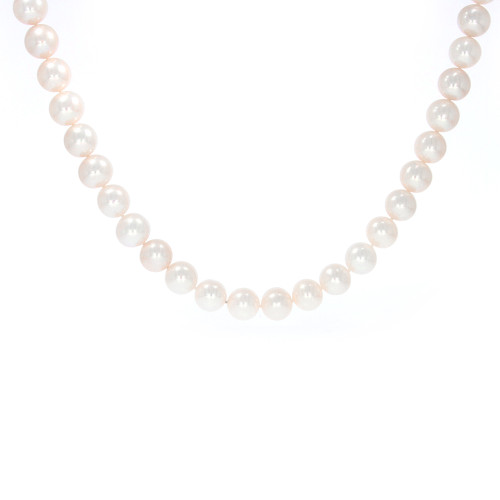 Round White Freshwater Pearl Vario Key Necklace - 16.5""