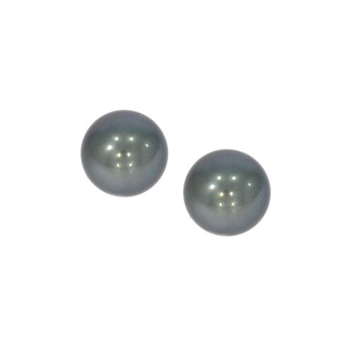 18K White Gold Tahitian Pearl Earring Stoppers