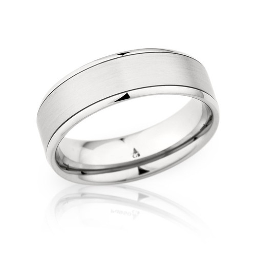 14K White Gold 7mm Wedding Ring