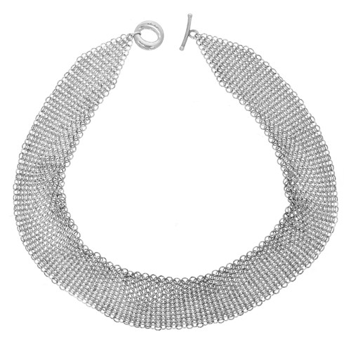 Sterling Silver Tiffany & Co Mesh Chainmail Necklace