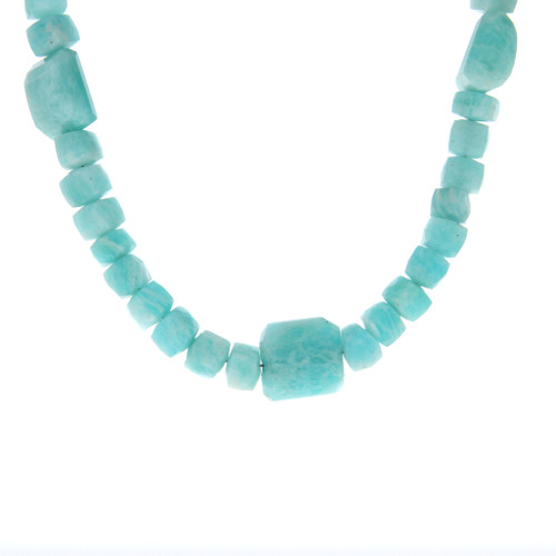 Sterling Silver Amazonite Bead Necklace