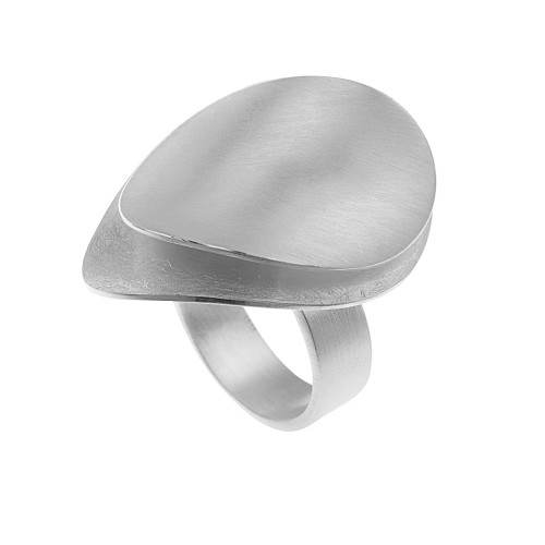 Sterling Silver Large Twin Petals Ring