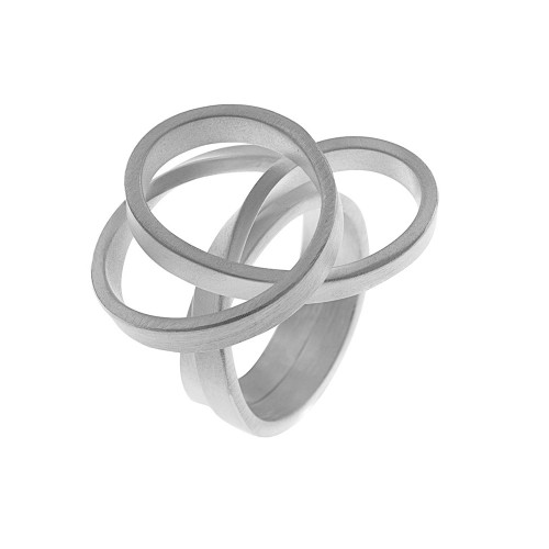 Sterling Silver Large Knot Ring