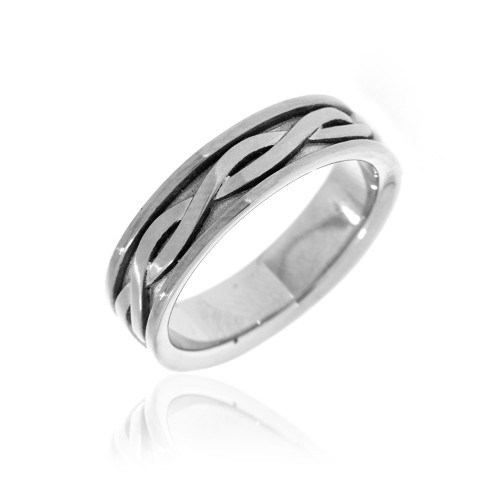 Celtic Knot Stainless Steel Wedding Ring
