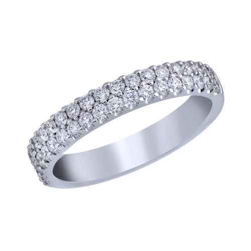 18K White Gold 2 Row Diamond Ring