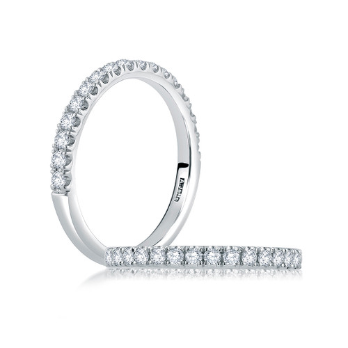 14K White Gold Classic Diamond Wedding Ring