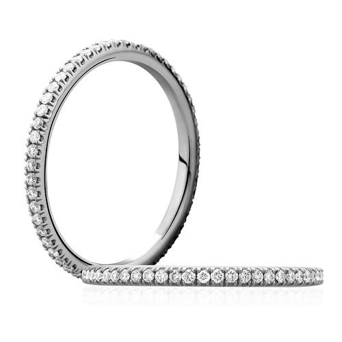 14K White Gold Dainty Eternity Ring