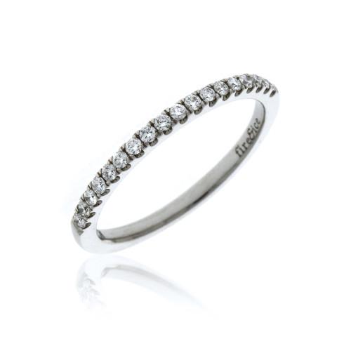 18K White Gold Fire & Ice Diamond Wedding Ring