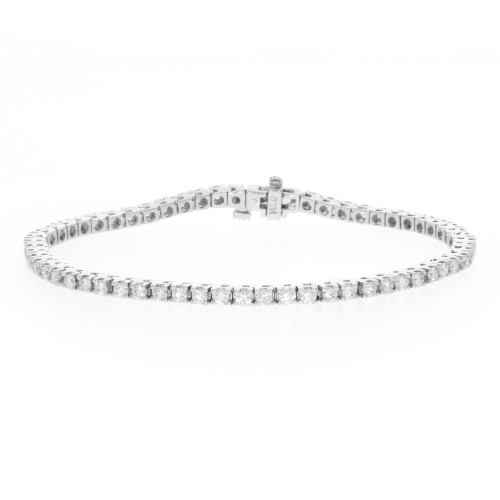 14K White Gold Diamond Tennis Bracelet - 2.70ctw