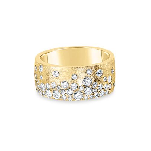 14K Yellow Gold Flush-Set Diamond Ring
