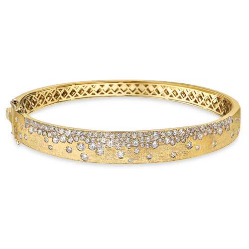 14K Yellow Gold Flush-Set Diamond Bracelet