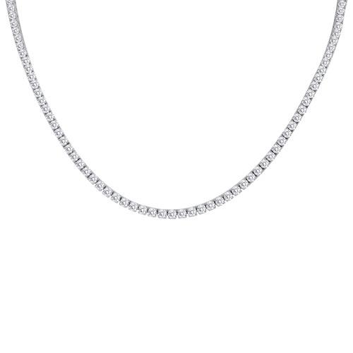 18K White Gold Diamond Riviera Necklace