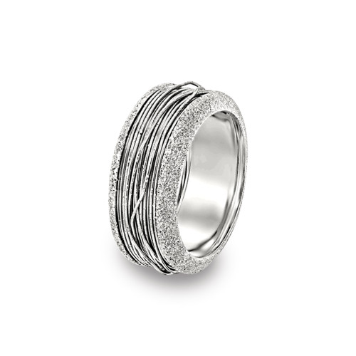 14K White Gold Wire Wrapped Ring