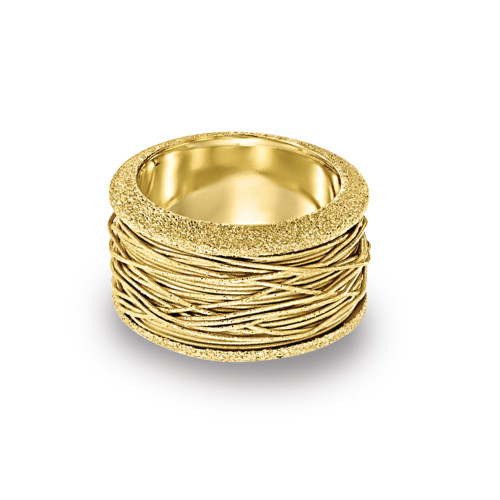 14K Yellow Gold Wire Wrapped Ring