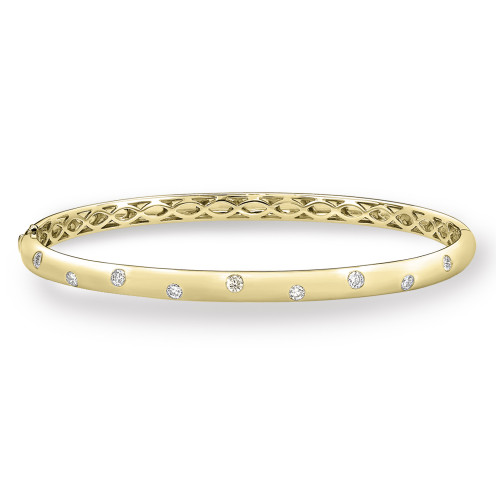 18K Yellow Gold Bracelet With Diamond Accents