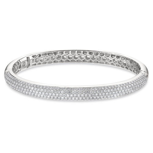 18K White Gold Pave Set Diamond Bracelet