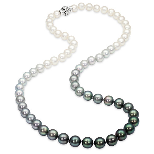 South Sea and Tahitian Pearl Ombre Necklace