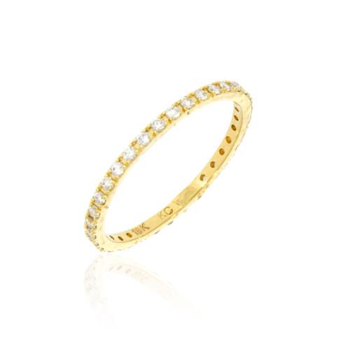 14K Yellow Gold and Diamond Eternity Ring