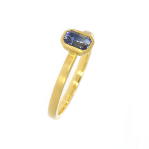 18K Yellow Gold Bi-Color Sapphire Yumdrop Ring