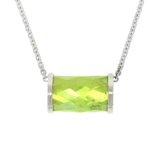 Sterling Silver Hard Candy Peridot Necklace