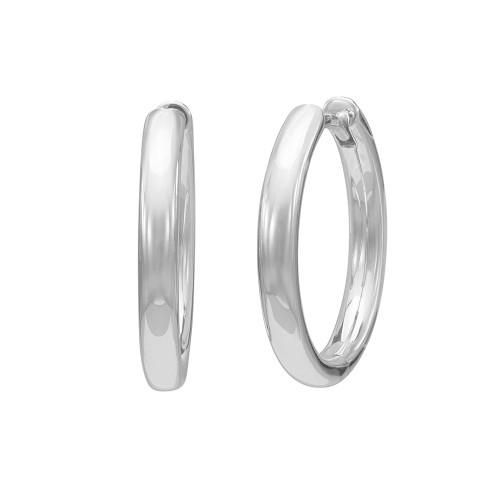 Sterling Silver 3.5mm Hoop Earrings