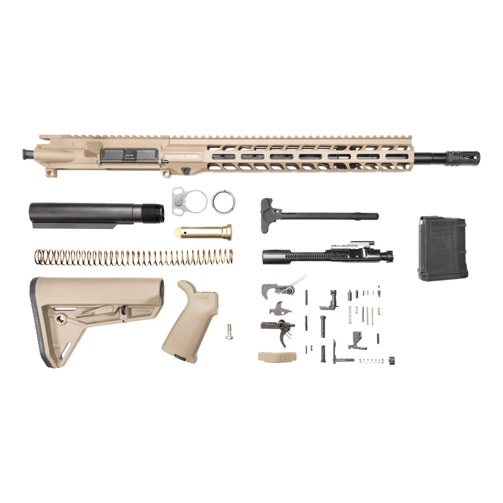 Stag 15 Tactical FDE Nitride Rifle Kit - 10rd Magazine