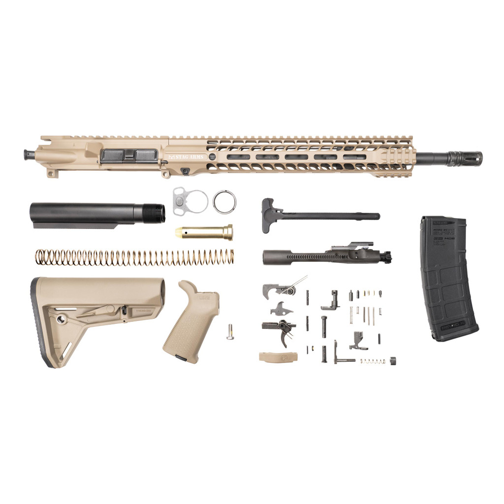 Stag 15 Tactical FDE Phosphate Rifle Kit - w/Quad HG