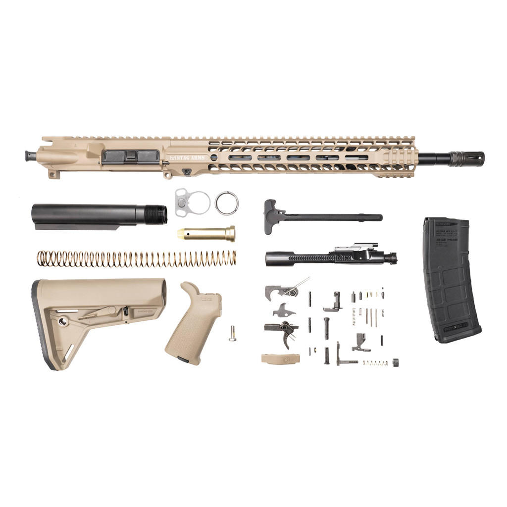 Stag 15 Tactical FDE Nitride Rifle Kit - w/Quad HG