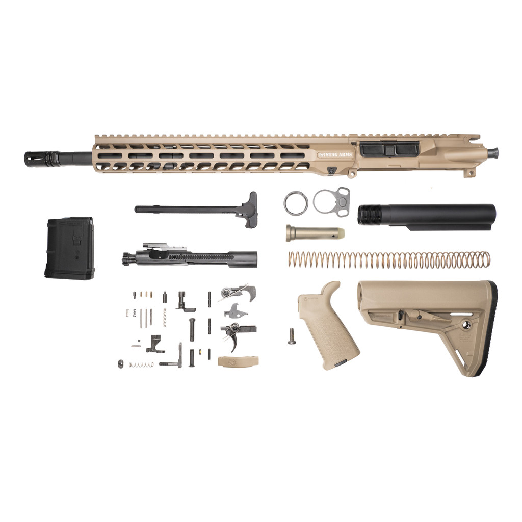 Stag 15L Tactical FDE Phosphate Rifle Kit - 10rd Magazine