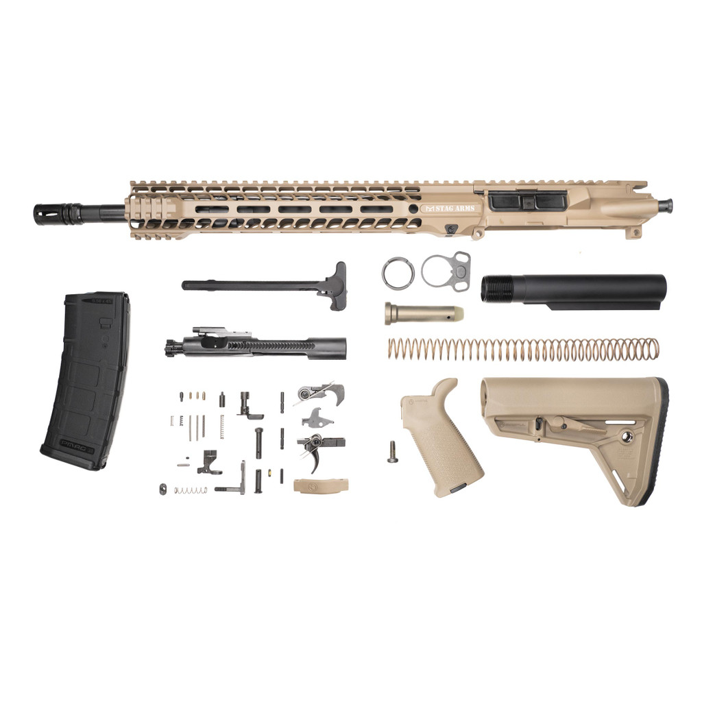 Stag 15L Tactical FDE Phosphate Rifle Kit - w/Quad HG