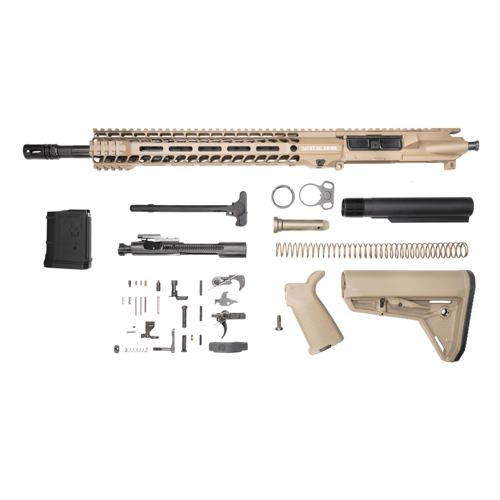 Stag 15L Tactical FDE Phosphate Rifle Kit - 10rd Magazine w/Quad HG