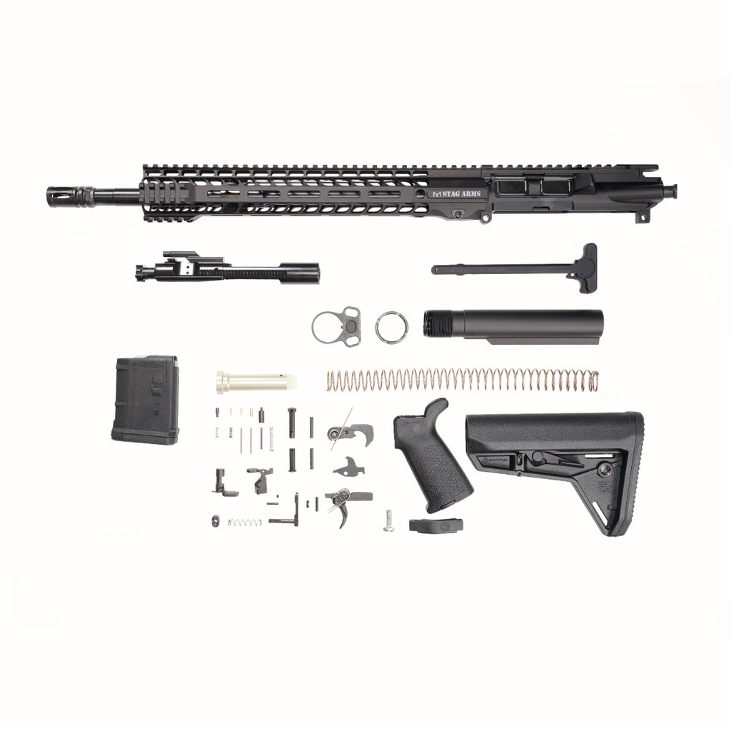 Stag 15L Tactical Nitride Rifle Kit - 10rd Magazine w/Quad HG