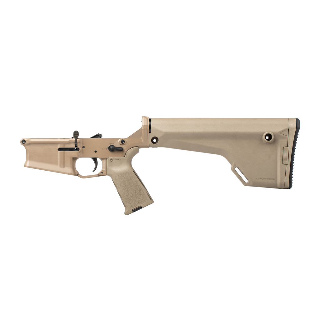 Stag 10 Rifle FDE Complete Lower - Reverse