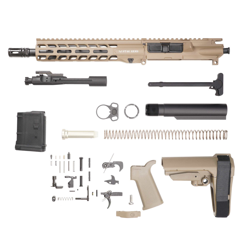 Stag 15L Tactical Pistol 10.5 in FDE Phosphate Kit - 10rd Magazine