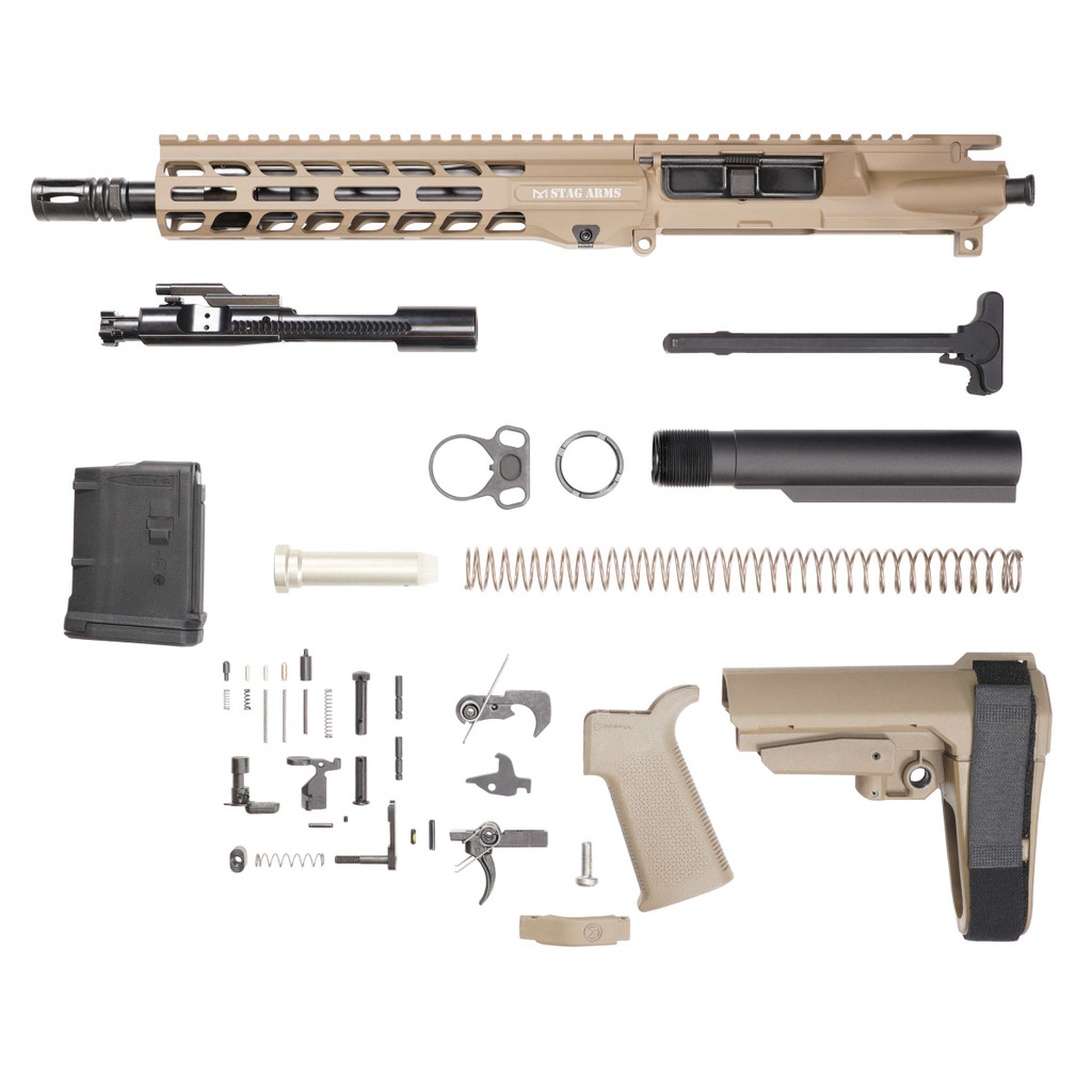 Stag 15L Tactical Pistol 10.5 in FDE Nitride Kit - 10rd Magazine