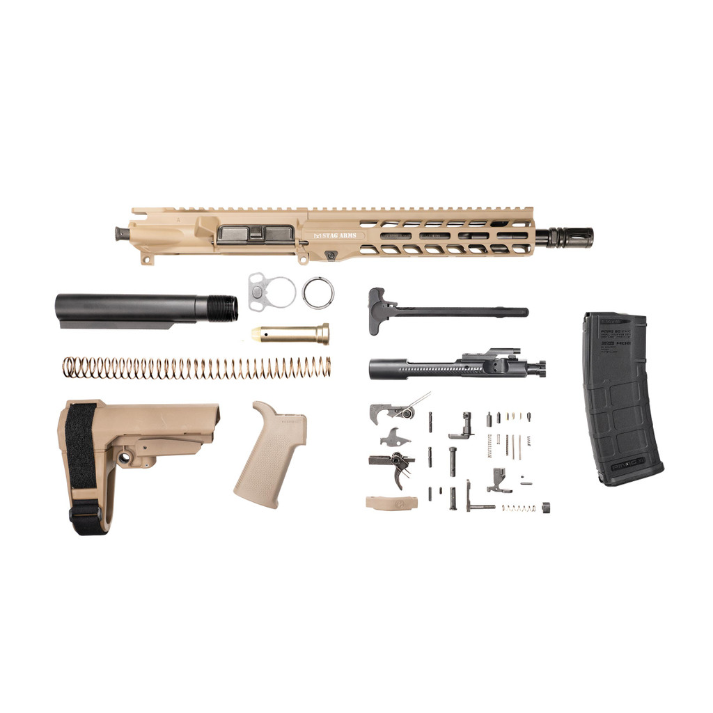 Stag 15 Tactical Pistol 10.5 in FDE Nitride Kit