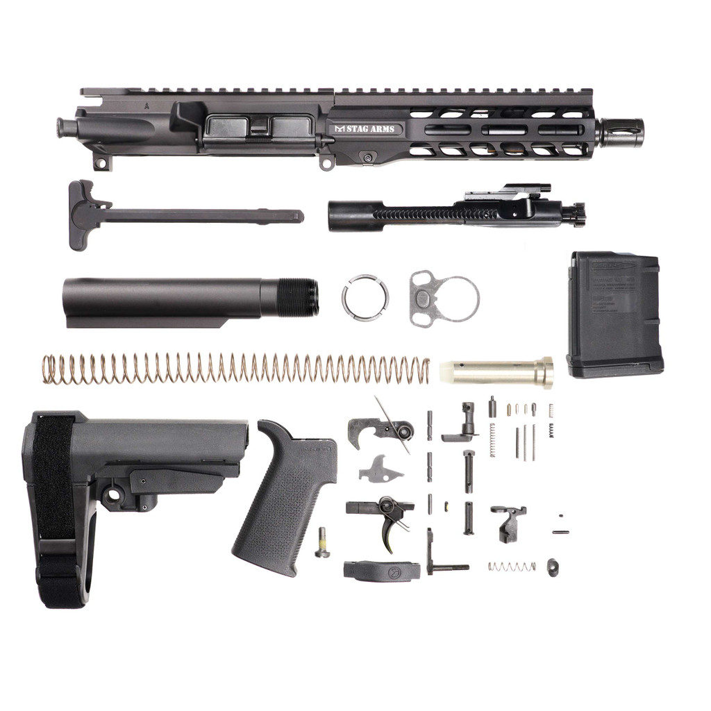 Stag 15 Tactical Pistol 7.5 in Nitride Kit - 10rd Magazine