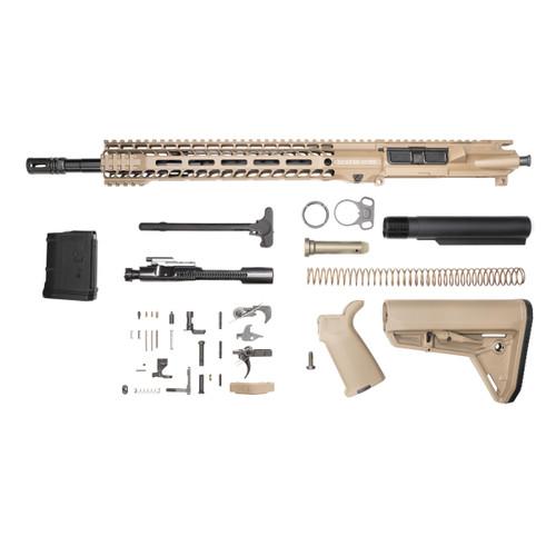 Stag 15L Tactical FDE Nitride Rifle Kit - 10rd Magazine w/Quad HG