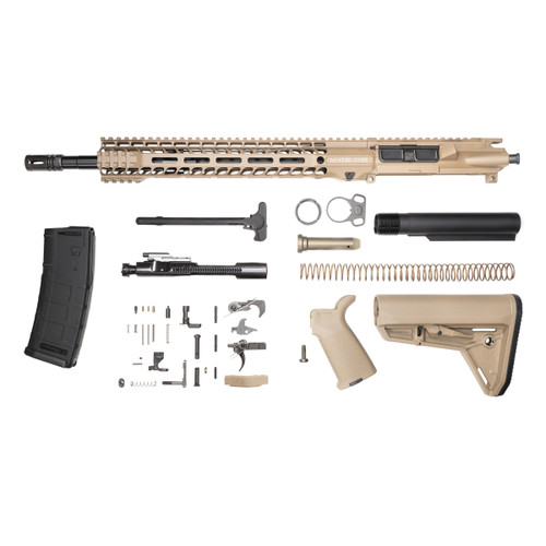 Stag 15L Tactical FDE Nitride Rifle Kit - w/Quad HG