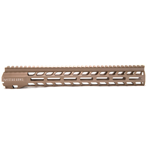 Stag 15 Slimline NQ NVH M-Lok Hand Guards FDE 13.5 in - BLEM