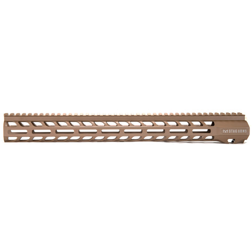 Stag 15 Slimline NQ NVH M-Lok Hand Guards FDE 16.5 in - BLEM