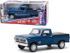 "1970 Ford F-100 Pickup Truck with Bed Cover Dark Blue ""STP"" ""Running on Empty"" Series 4 1/24 Diecast Model Car by Greenlight"