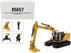 "Cat Caterpillar 323 Hydraulic Excavator Next Generation Design with Operator and 4 Work Tools ""High Line Series"" 1/50 Diecast Model by Diecast Masters"