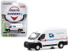 """2019 RAM ProMaster 2500 Cargo High Roof Van """"United States Postal Service"""" (USPS) White """"Route Runners"""" Series 1 1/64 Diecast Model by Greenlight"""