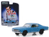 """1972 Chevrolet Monte Carlo Light Blue (A Beat Up) """"Ace Ventura: Pet Detective"""" (1994) Movie """"Hollywood Series"""" Release 25 1/64 Diecast Model Car by Greenlight"""
