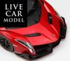 1/18 Kyosho Ousia Lamborghini Veneno Hardtop (Red w/ Red Line) Car Model